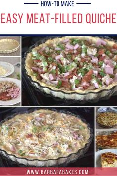 With three kinds of meats and three kinds of cheeses baked into a perfectly flaky crust, this easy quiche recipe will become a quick favorite for the whole family! #BarbaraBakes #quiche #bestquicherecipe #meatloversquiche Healthy Breakfast Casserole, Breakfast Smoothies, Breakfast Recipes, Easy Quiche, Quiche Recipes, Best Dinner Recipes, Meat Lovers, Perfect Breakfast, Soup And Salad