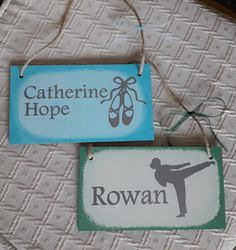 Children's room plaques. Any name. Any sport or hobby. Poppy-Rose Crafts on Facebook.