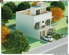 Planta de Sobrado - 3 Quartos - 195.16m² - Monte Sua Casa