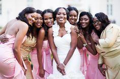 Real Texas Wedding - Rita & Ephraim - The Bride's Cafe http://beautifulbrownbride.blogspot.com/