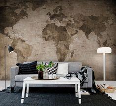 #Wallpaper #Duvarkagidi R10772 WORLD MAP