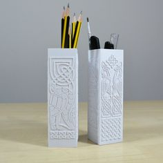 3d model file of a Celtic themed desk tidy in STL format for you to download and 3d print yourself. Click for more information.
