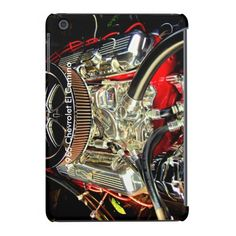 1965 Chevy El Camino Engine-iPad Mini Case #zazzle #ipadmini #ipadcases #cars #engines #1965chevy #elcamino #electronics