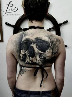 Skull Tattoos by Luke Sayer-the detail is stunning.
