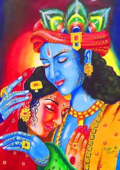 Lord Krishna Images, Radha Krishna Pictures, Radha Krishna Photo, Krishna Art, Hare Krishna, Krishna Drawing, Krishna Painting, Photos Of Lord Shiva, Indian Art Gallery