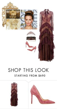 """""""HRM Irene   Pre-wedding charity auction in Versailles"""" by xeniarenaldo ❤ liked on Polyvore featuring Zuhair Murad, Gianvito Rossi and Christian Louboutin"""