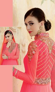 Pink Party wear Anarkali Suit-