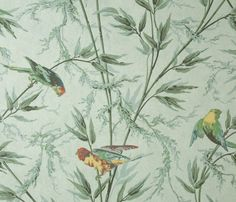 A colourful, tropical design from Little Greene's London IV Wallpaper Collection. Little Greene is available at Go Wallpaper UK. Vintage Bird Wallpaper, Parrot Wallpaper, Beige Wallpaper, Luxury Wallpaper, City Wallpaper, Wallpaper Online, Vintage Birds, Designer Wallpaper, Wallpaper Ideas