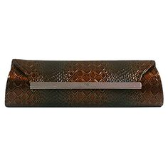 Luxury Divas Brown Snake Textured Gradient Clutch Evening Bag * Read more  at the image link.