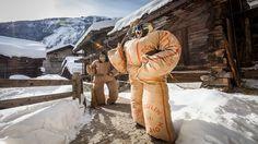 """Les Empaillés"" - Carnaval d'Evolène, Val d'Hérens, Valais, Switzerland Wallis, Switzerland, Germany, Snow, Travel, Beautiful, Mardi Gras, Winter, Trips"