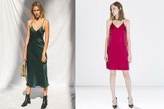 combinar prendas de raso, vestidos