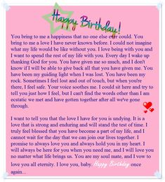 happy birthday mom Birthday paragraph for her - Sample birthday letters for girlfriend - Love You Messages Birthday Letter For Girlfriend, Birthday Letters To Boyfriend, Happy Birthday Boyfriend Message, Letter To My Boyfriend, Birthday Greetings For Boyfriend, Happy Birthday Quotes For Friends, Message For Girlfriend, Birthday Wishes For Boyfriend, Boyfriend Poems