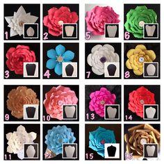 Plantillas de flores de papel DIGITAL por CreationsByMayra08