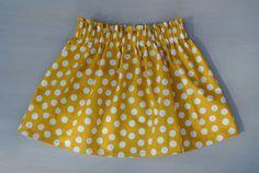 Mustard Dot Skirt