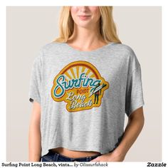 Surfing Point Long Beach, vintage California surf Tshirts