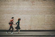 Фотосессия пары (лав стори) на улице в Москве: Оля и Миша