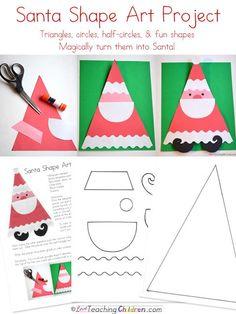 Santa Shape Art Activity