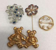 Vintage Brooch Lot Coro Napier Rhinestone Pearl Enamel Pin Jewelry    eBay