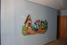 Mural pintado infantil Disney
