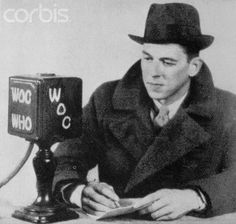 President Ronald Regan working for B.J. Palmer at radio station WOC. WOC= Wonders of Chiropractic  WHO= With Hands Only  Both stations owned by the Palmers Family.    https://www.facebook.com/#!/DiMartinoChiropractic
