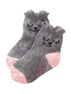 Non-Skid Critter Socks for Baby   Old Navy