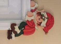 Hand+painted+Holiday+Elf+Door+Hanger+Door+by+stephskeepsakes,+$22.95