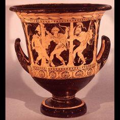 Capture of Dolon by Odysseus and Diomedes, Krater London, British Museum F 157 , c. Mycenaean, Minoan, Ancient Greek Art, Ancient Greece, Homer Iliad, Theater, Trojan War, Greek Pottery, Greek Culture