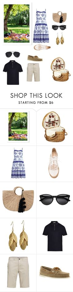 """""""Picnic For Two"""" by denise-grimes ❤ liked on Polyvore featuring Picnic Time, Nicholas Kirkwood, JADEtribe, Vince, Sperry and Bally"""