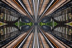 #reflection #mirror #bridge #rail #symmetry creation © Jonathan Stutz