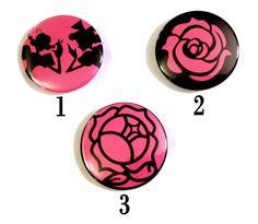 Revolutionary Girl Utena Themed Pinback Buttons by PincraftButtons, $1.00