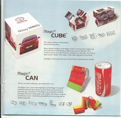Magic cube and magic can which is foldable,will help you to advertise your brand.