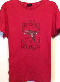 RARE VTG 90s POLO Ralph Lauren SPORTSMAN Tshirt SUPERIOR DUCK DECOYS RL67 Red M | Clothing, Shoes & Accessories, Men's Clothing, Casual Shirts | eBay!