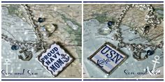 Reversible Proud US Navy Mom necklace by Son and Sea FREE US shipping