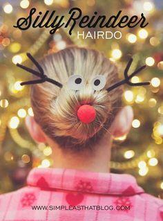 Rudolph reindeer hair bun