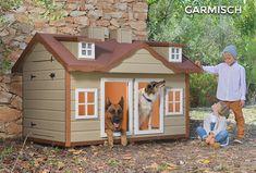Caseta para dos perros aisladaGARMISCH/ Isolated dog house for two dogs Garmisch / Cuccia per cani coibentata / Niche chien isolée / Hundehütte Isoliert /