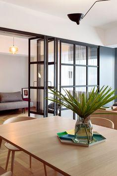 Stylish, functional apartment in Bucharest with modern decor - by Rosu-Ciocodeica Interior Shutters, Modern Architecture Design, Apartment, Warm Interior, Interior Design Colleges, Modern Deco, Interior Design, Home Decor, Top Interior Design Firms