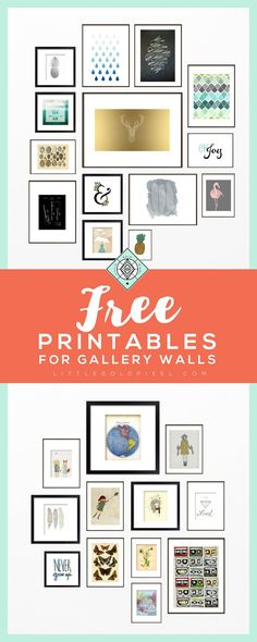 26 Free Printables For Gallery Walls • Little Gold Pixel • An Art Printable Roundup • #printables #freebies #freeprintables #freeart #freeprints #gallerywall #gallerywallideas #gallerywallart