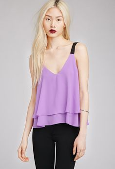 Layered Boxy V-Neck Tank | FOREVER21 - 2049257959