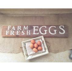 Farm fresh egg sign wooden sign rustic sign by BurlapBowDecor