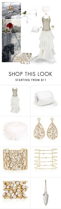 """Snow Princess"" by blackmagicmomma ❤ liked on Polyvore featuring The Fur Salon, Liska, Amrapali, Nancy Newberg and Lene Bjerre"