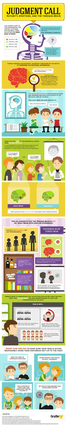 Teen brain development infographic