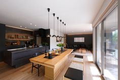 Shocking Info Regarding Kitchen Table Contemporary Room Uncovered - thehomedecores Japanese Home Decor, Japanese Interior, Japanese House, Modern Interior, Interior Design, Kitchen Interior, Room Interior, Dining Room Lighting, Cuisines Design