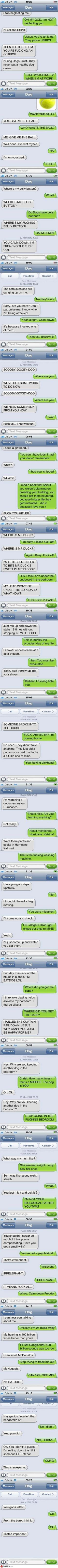 """""""Texting Your Dog"""" I'm so sorry for the profanity, but this is PERFECT. xD"""