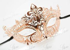 Rose Gold Masquerade Mask Luxury Rose GoldVenetian by 4everstore. Ana's mask chapter 18