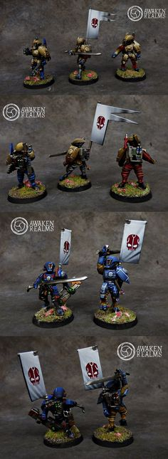 Tau fire warriors with banners