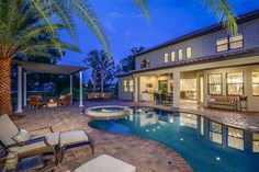 Back yard / pool area at our Avondale IV model in Old Memorial. Tampa, Fl.