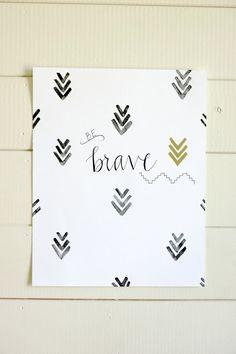 Be Brave print for nursery
