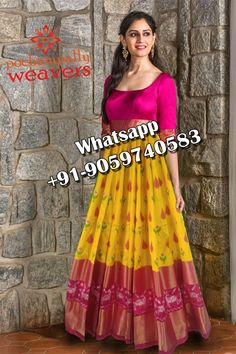 Half Saree Designs, Lehenga Designs, Blouse Designs, Frocks And Gowns, Ikkat Dresses, Lehenga Style, Frock Design, Anarkali Dress, Indian Designer Wear