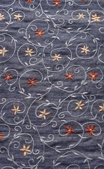 Embroidered Silk Tussah