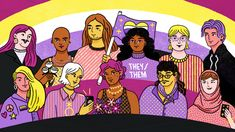 Learn about how non-binary people usually identify as neither male nor female or both male and female. Non Binary Gender, What Is Non Binary, Non Binary People, Lgbt Memes, Pansexual Pride, Lgbt Love, Genderqueer, Prince, Beautiful